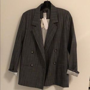 Aqua gray and white blazer - new with tags!